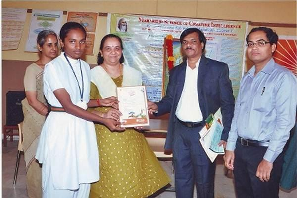 Miss Shaik Sameena Beebi of Class IX of MVM Hyderabad secured National Winners (Runners Up) category 1 in the National Level Painting Competition held by Bank of Baroda. Over two lac students from all over India participated in the competition.